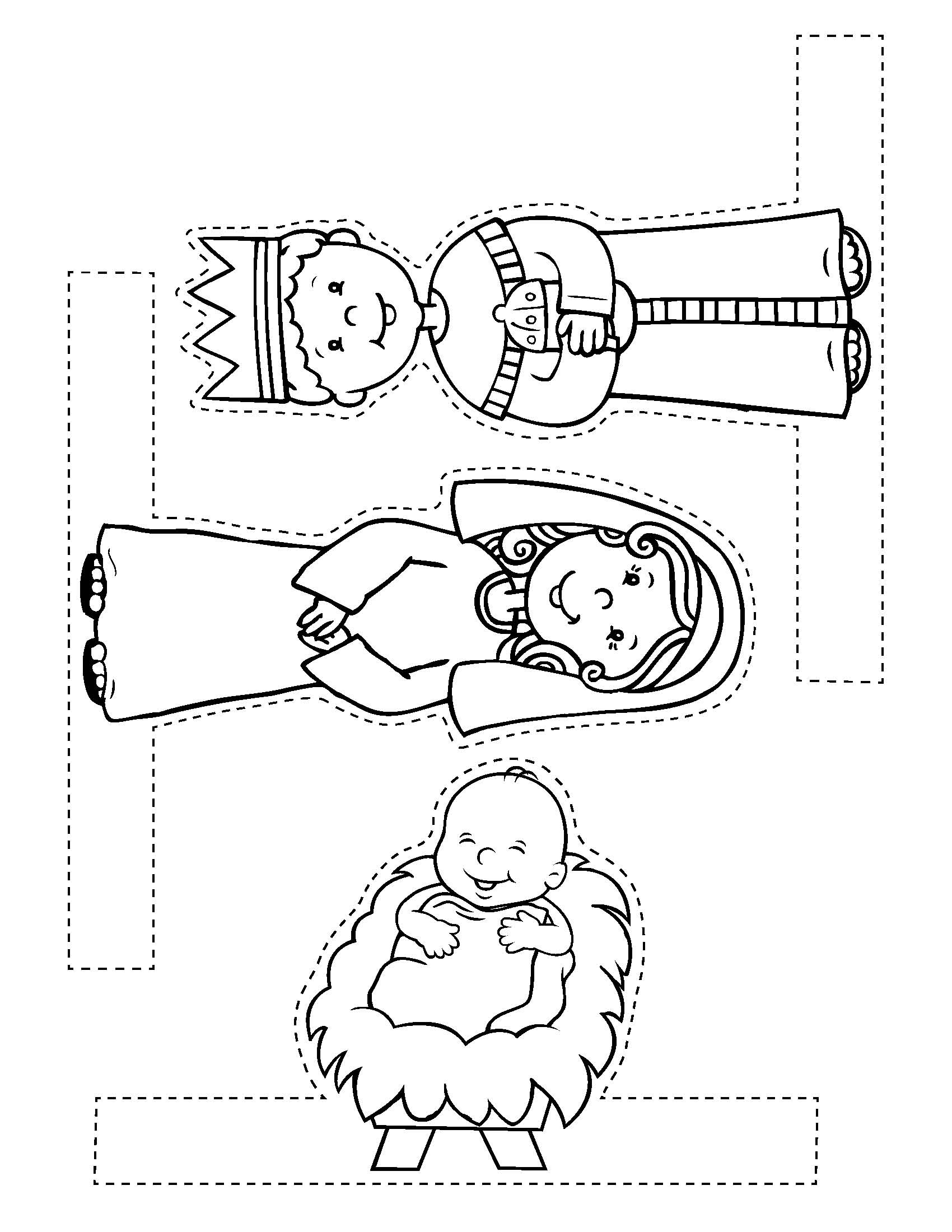 Free christmas craft from my easy to make bible crafts for Nativity scene coloring pages preschoolers