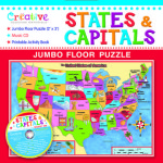 States and Capitals Jumbo Floor Puzzle and Other New Puzzles