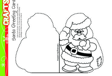 Santa Greeting Card Christmas Craft! Free Daily Download